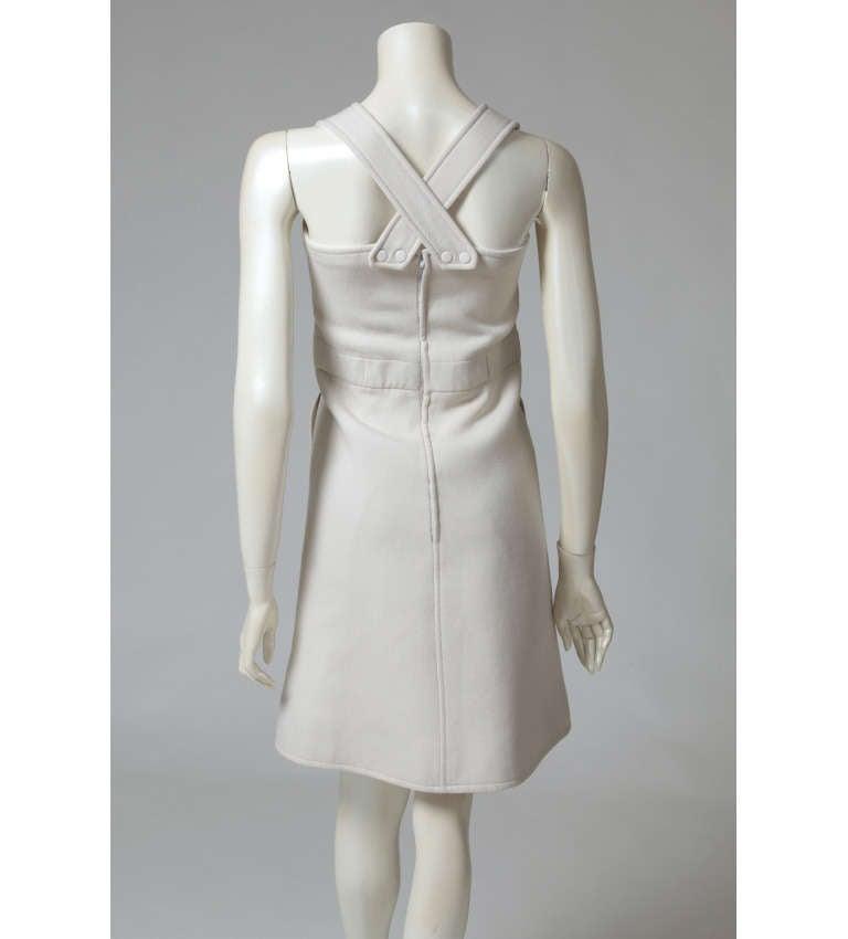 Women's Courreges Wool Jumper Dress For Sale