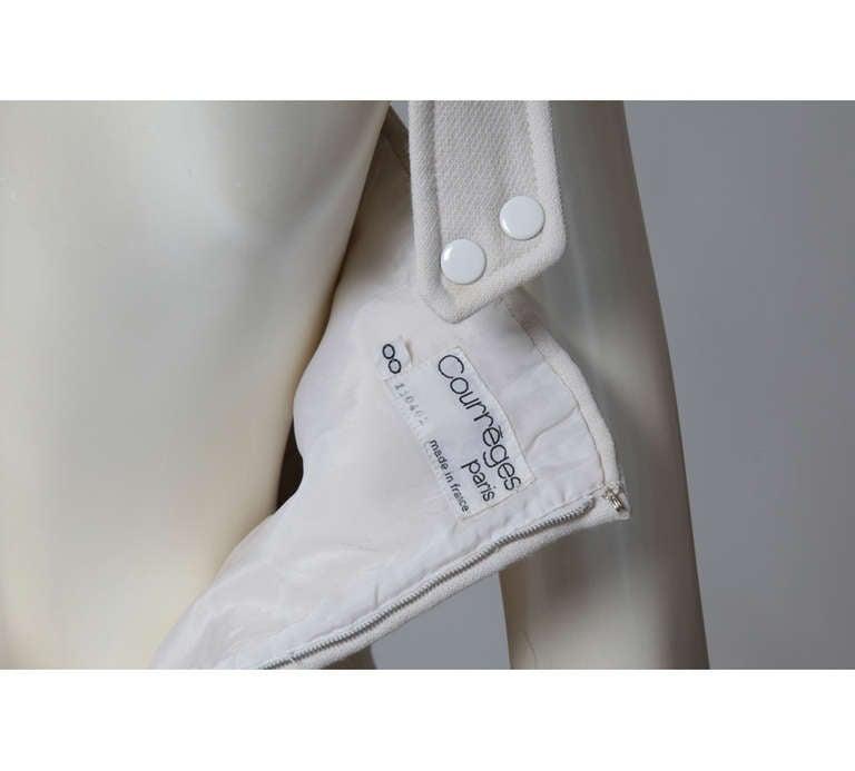 Courreges Wool Jumper Dress For Sale 2