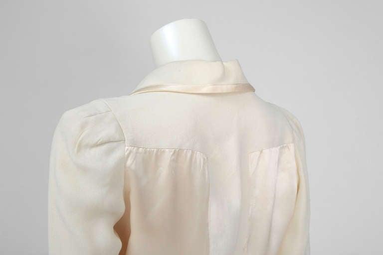Ossie Clark Moss Crepe Shirt Top 5