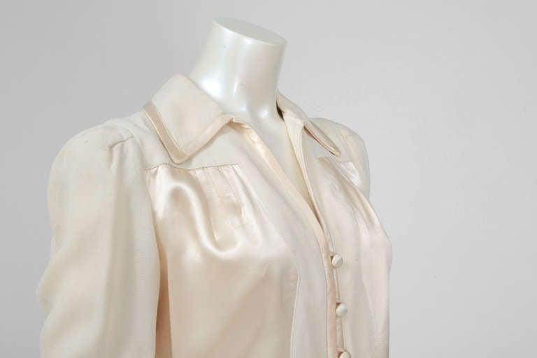 Ossie Clark Moss Crepe Shirt Top 2
