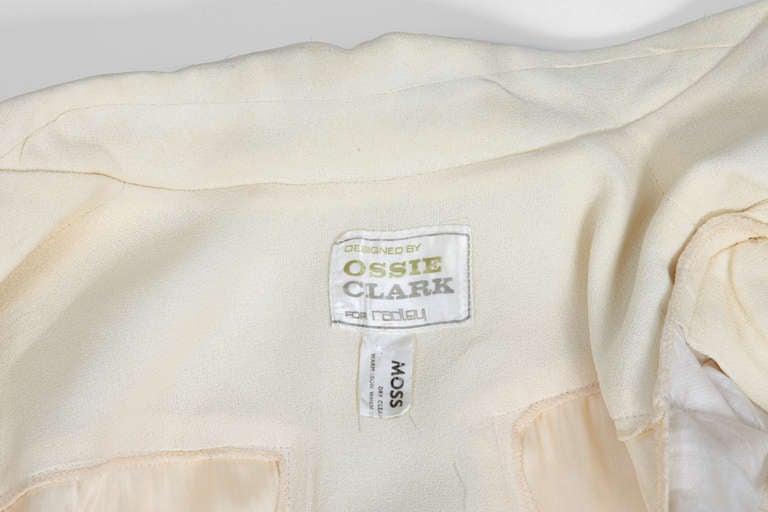 Ossie Clark Moss Crepe Shirt Top 7