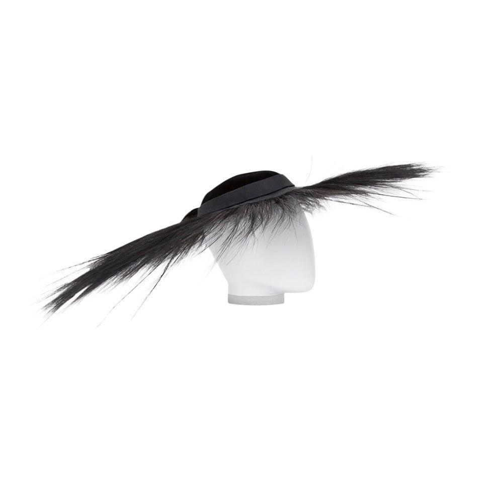 Nina Ricci Velvet & Bird of Paradise Feathers Hat