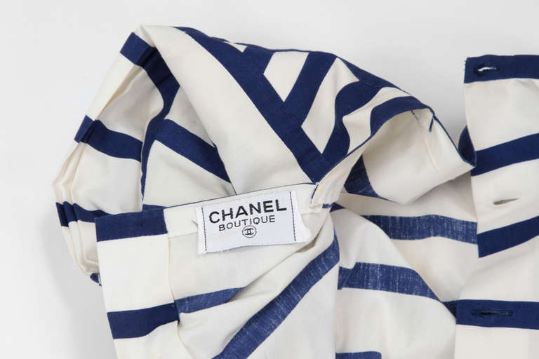Chanel Cotton Print Dress 8
