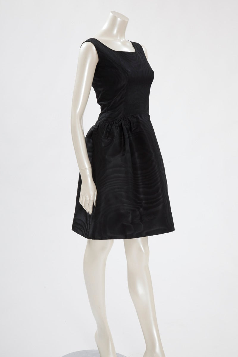 Balenciaga Haute Couture Moiré Cocktail Dress, Spring-Summer 1963 4