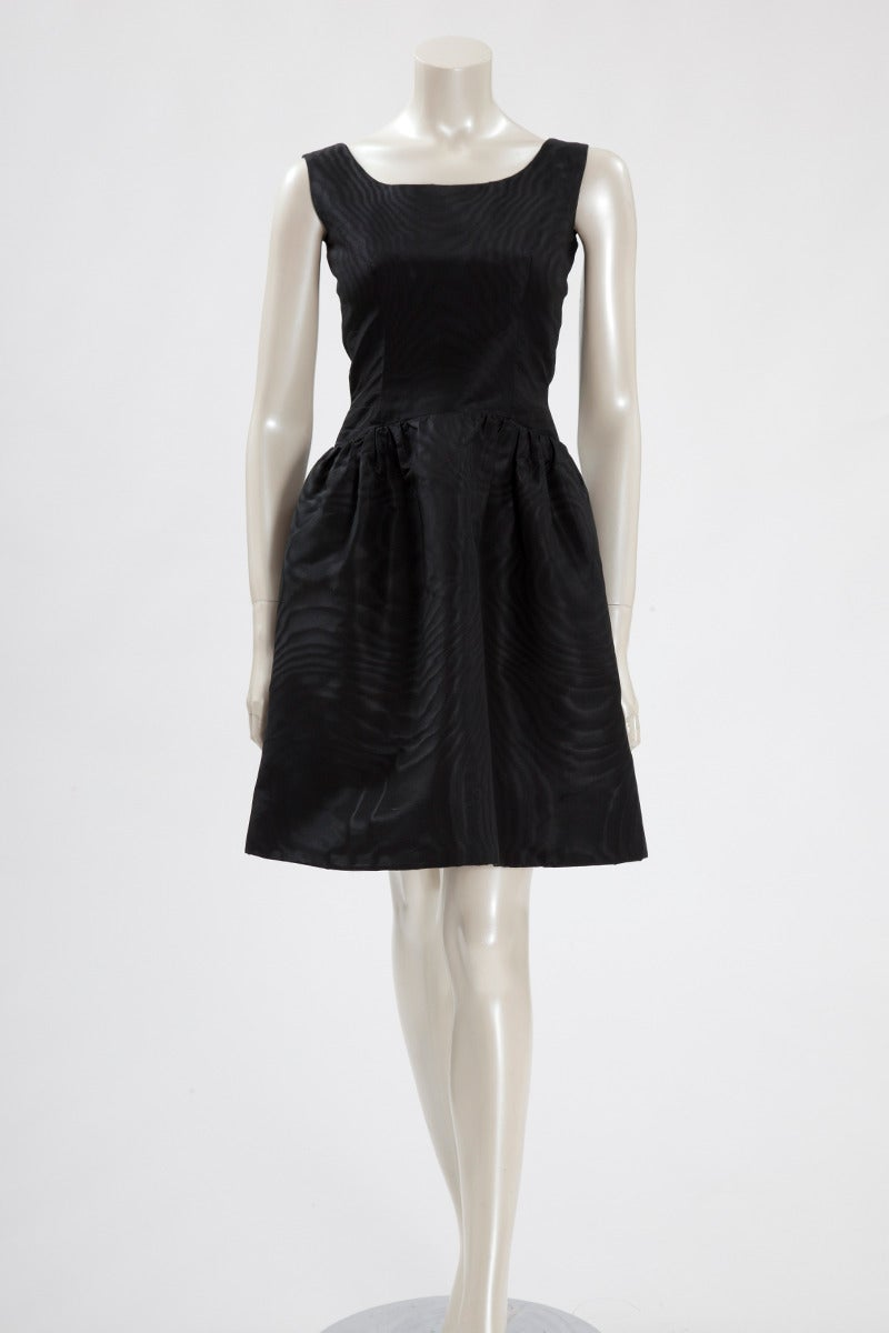 Balenciaga Haute Couture Moiré Cocktail Dress, Spring-Summer 1963 2