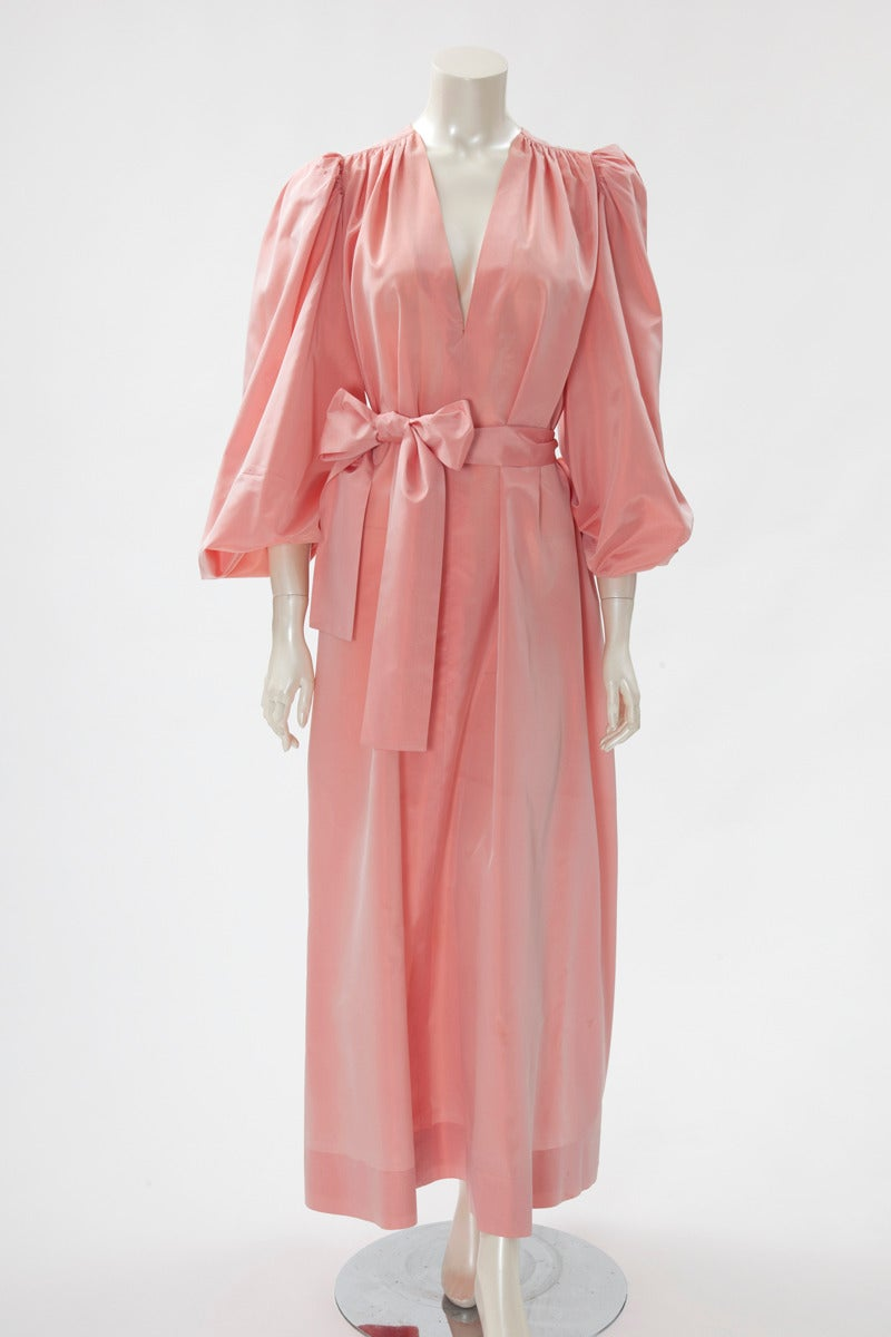 Pink Yves Saint Laurent Silk Taffeta Gown For Sale