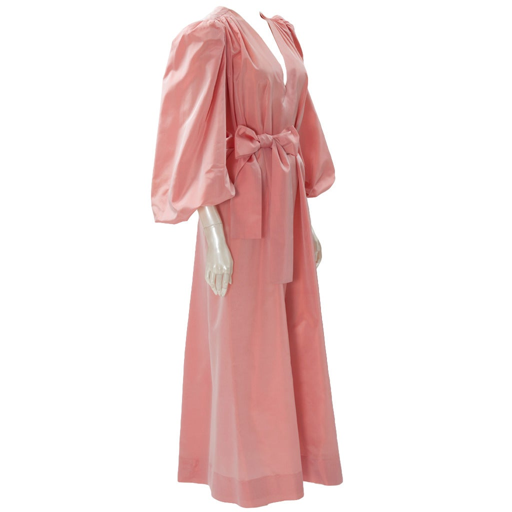 Yves Saint Laurent Silk Taffeta Gown 1