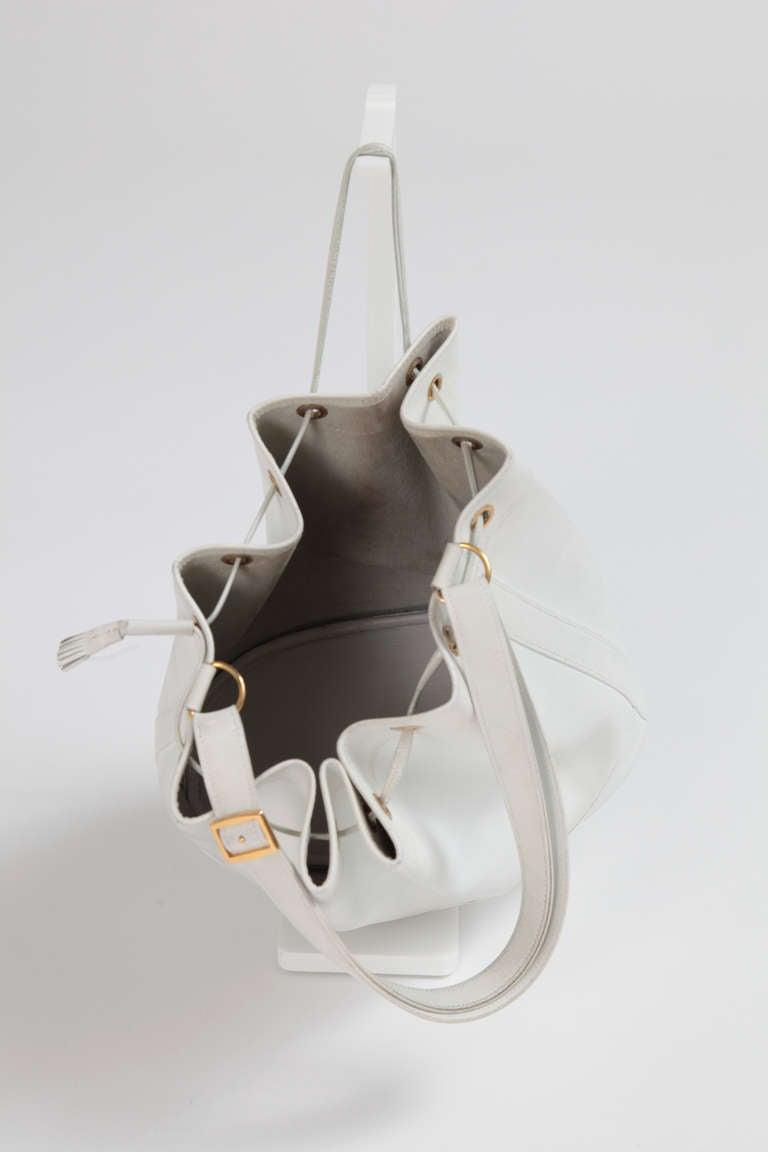 1985 Hermes Market Leather Bucket Tote Bag at 1stdibs