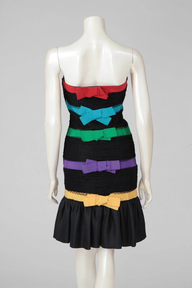 Yves Saint Laurent Strapless Cocktail Dress For Sale 2