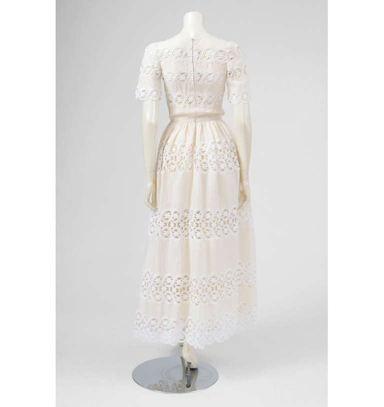 Valentino Haute Couture Cotton & Guipure Dress 4