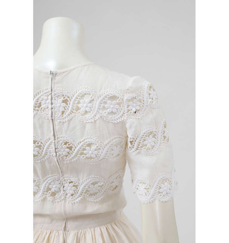 Valentino Haute Couture Cotton & Guipure Dress 5