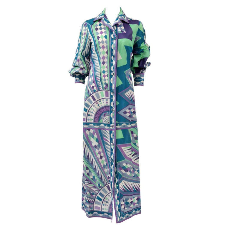Emilio Pucci Print Cotton Shirt Dress