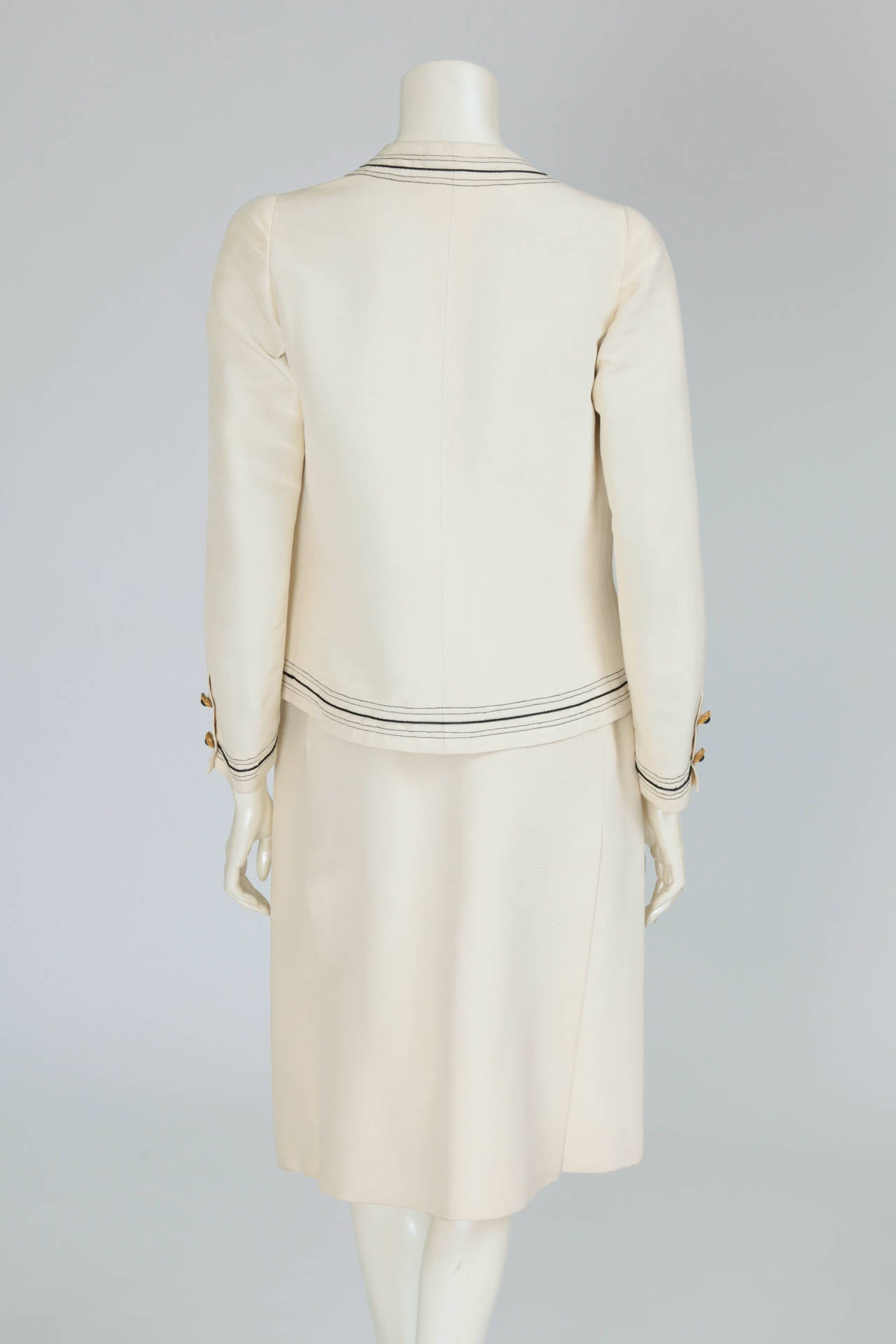 Gabrielle Chanel Haute Couture Three Piece Skirt Suit, Circa 1968-1970 For Sale 1