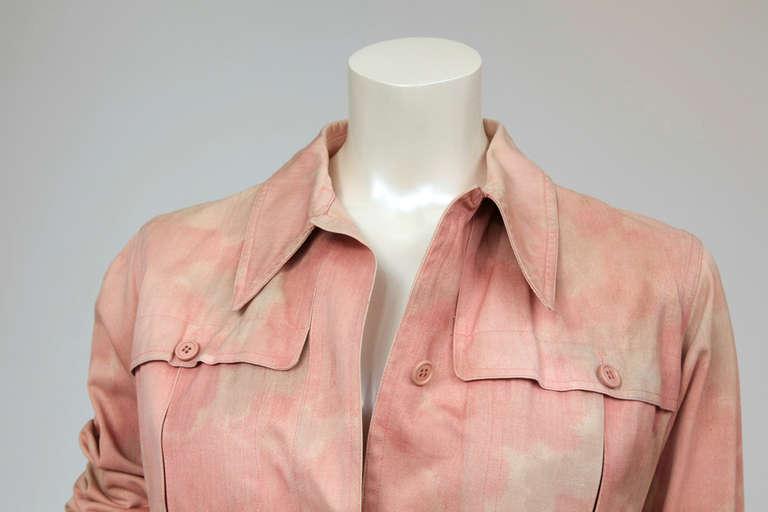 Yves Saint Laurent Tie & Dye Cotton Safari Tunic 2