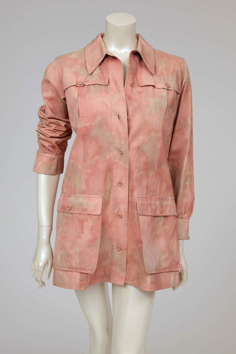 Yves Saint Laurent Tie & Dye Cotton Safari Tunic 3