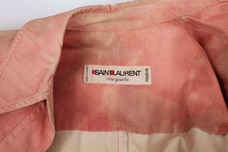 Yves Saint Laurent Tie & Dye Cotton Safari Tunic 6