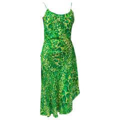 Emanuel Ungaro Silk Leopard Print Party Dress