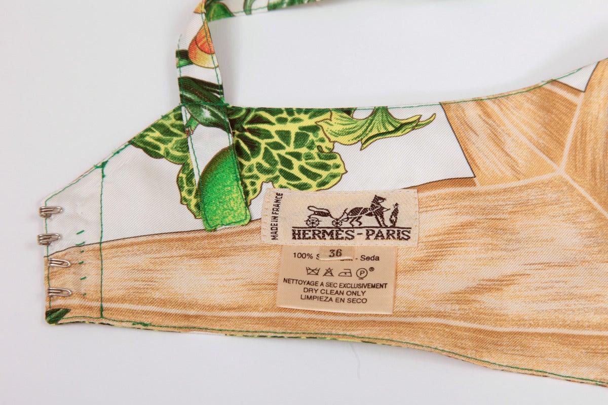 Unworn Hermes Silk Twill Pin Up Set 7