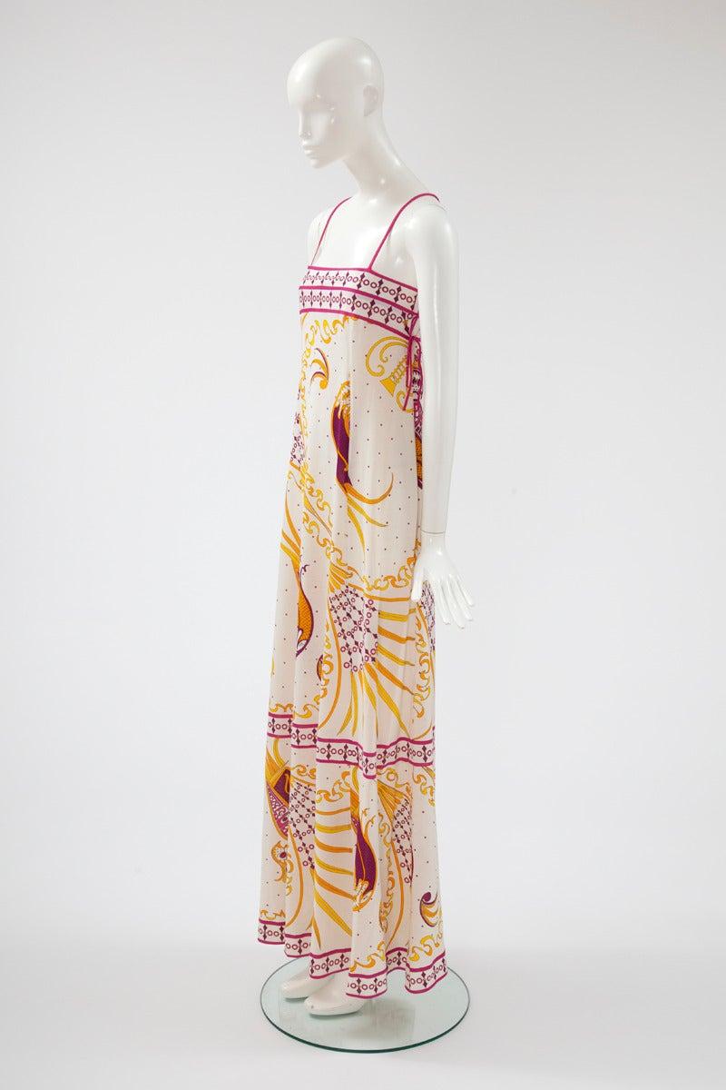 Emilio Pucci Printed Cotton Maxi Dress 2