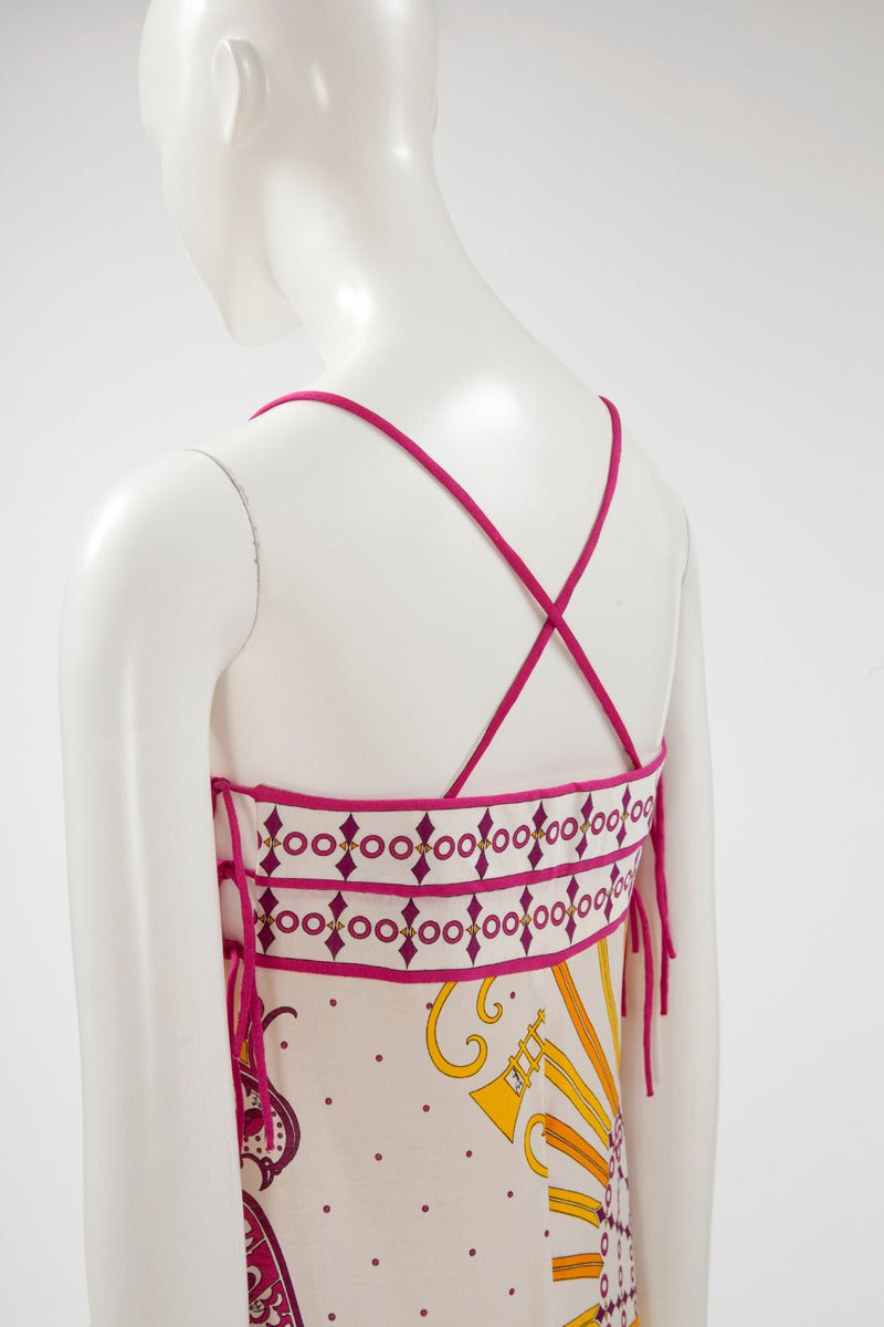 Emilio Pucci Printed Cotton Maxi Dress 4