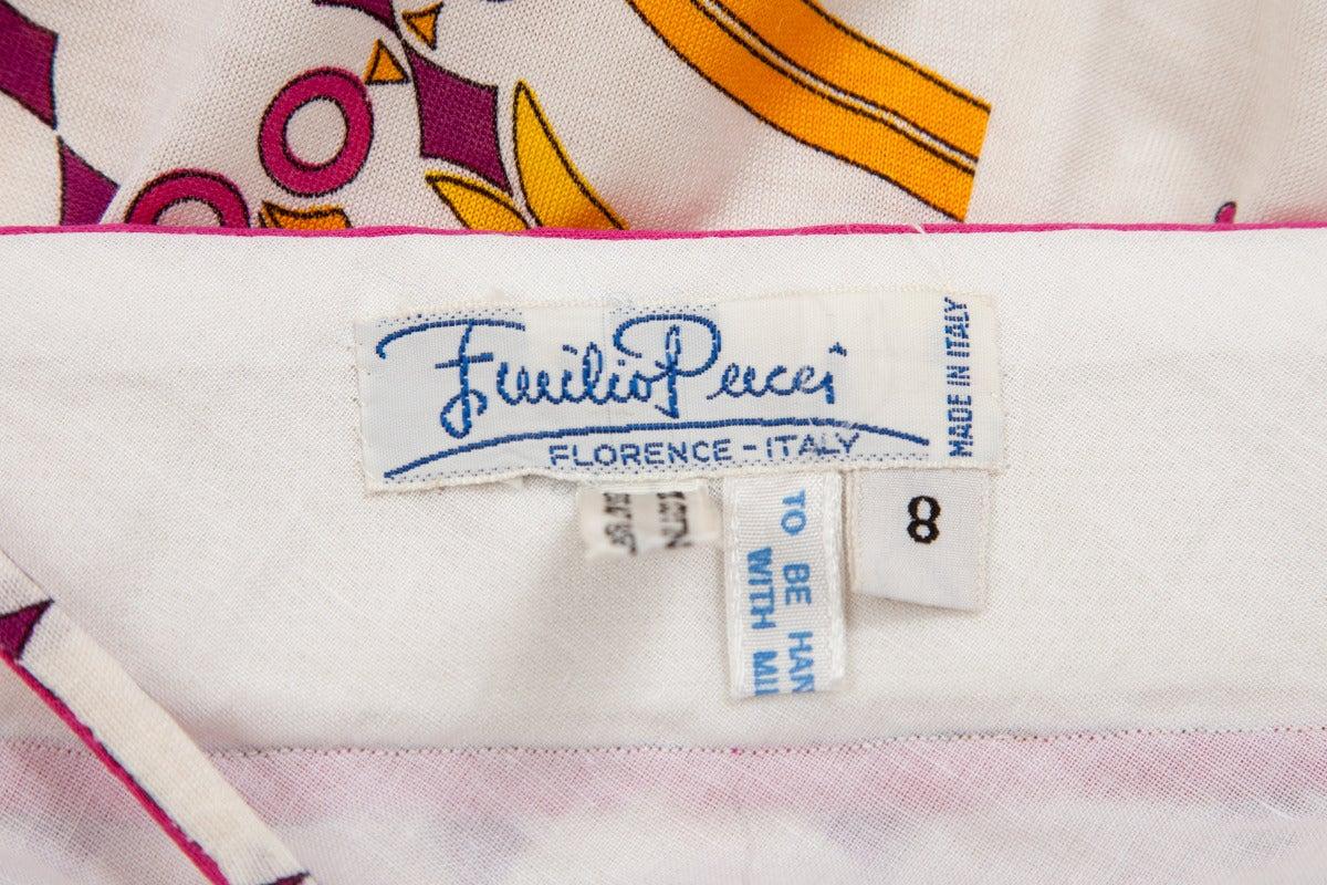 Emilio Pucci Printed Cotton Maxi Dress 10