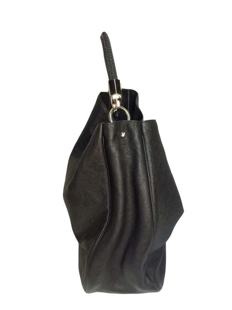 Yves Saint Laurent Leather and Shagreen Roady Tote Bag at 1stdibs