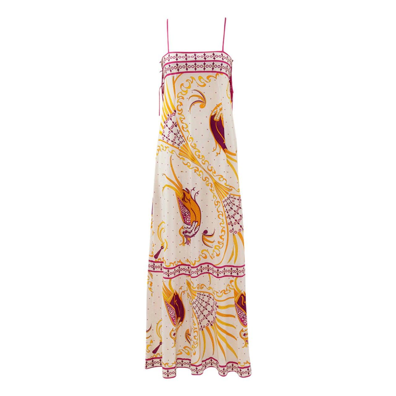 Emilio Pucci Printed Cotton Maxi Dress 1