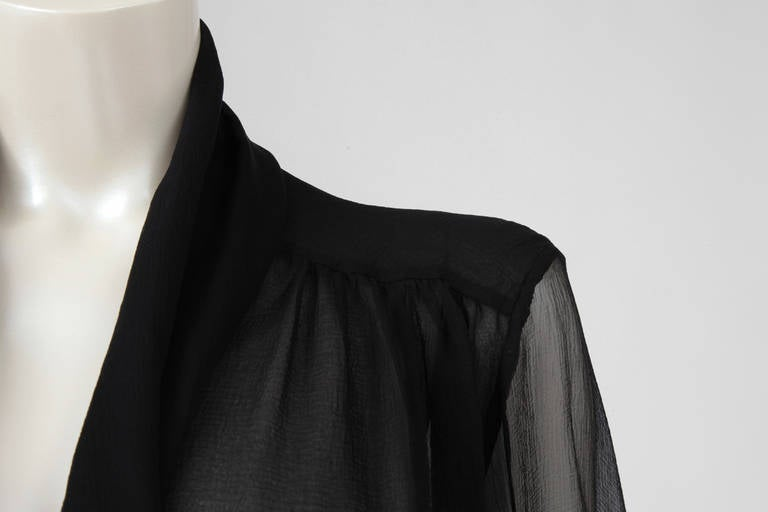 Yves Saint Laurent Silk Chiffon Blouse In Excellent Condition For Sale In Geneva, CH