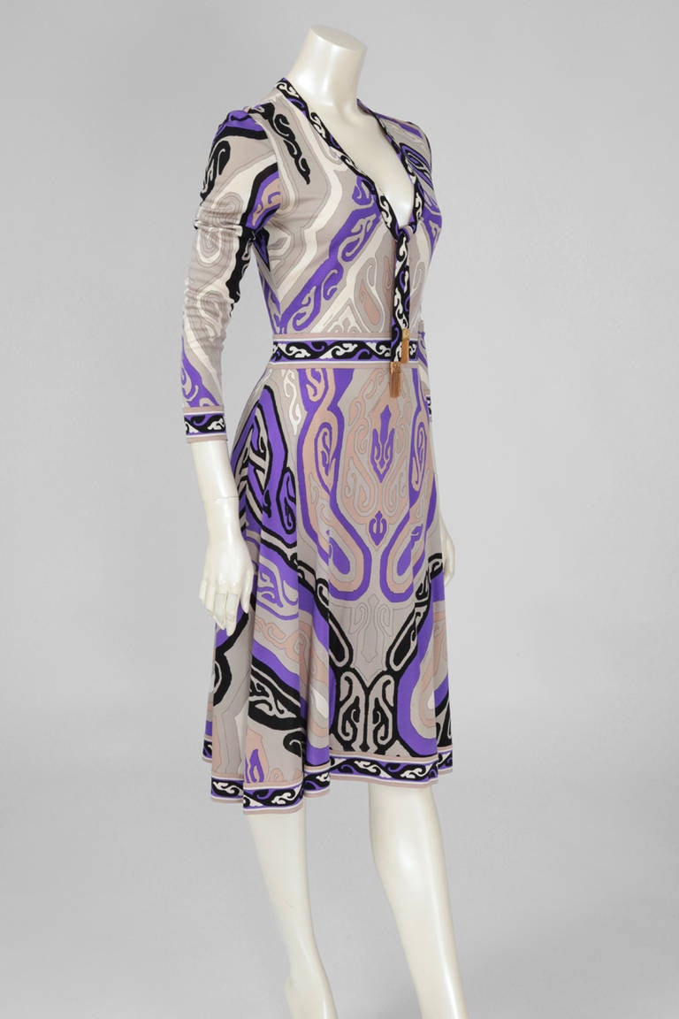 Leonard Silk Jersey Printed Dress 3