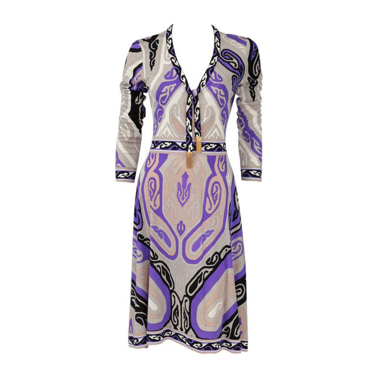 Leonard Silk Jersey Printed Dress 1