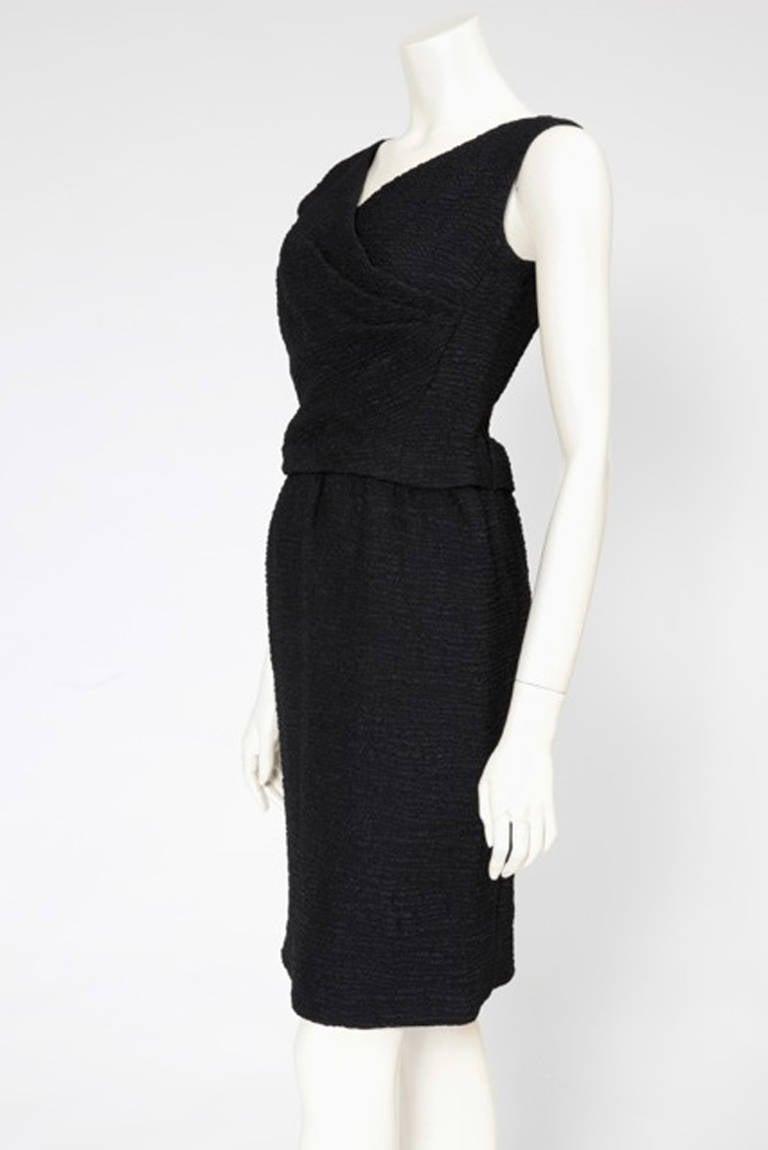 60's Christian Dior Blistered Silk Dress 2