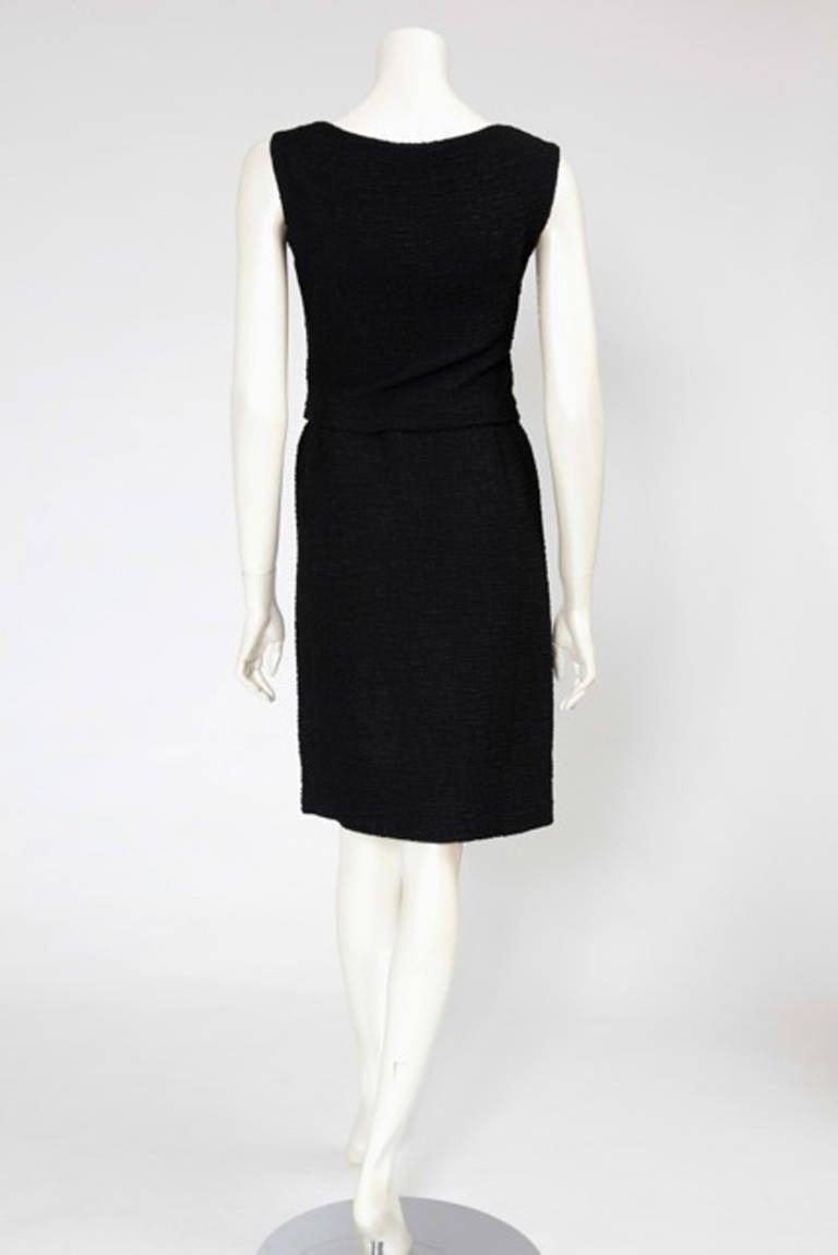 60's Christian Dior Blistered Silk Dress 5
