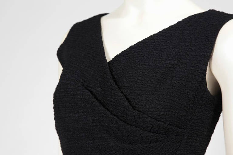 60's Christian Dior Blistered Silk Dress 3