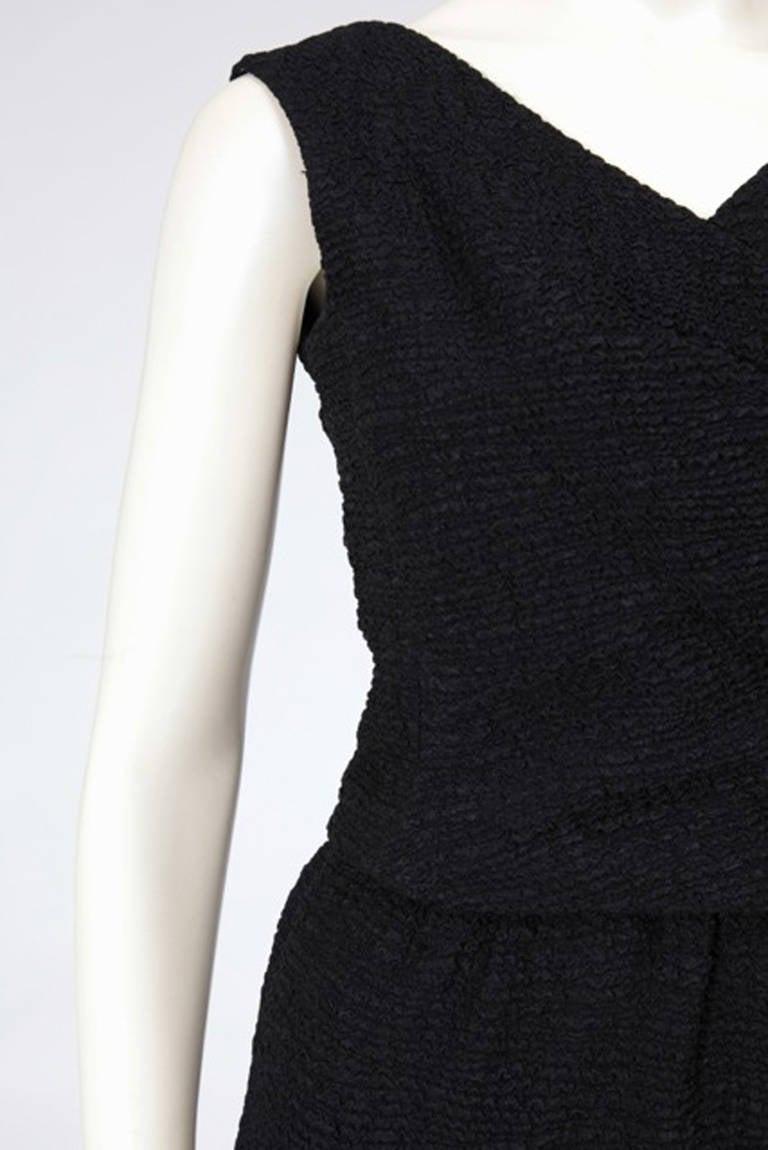 60's Christian Dior Blistered Silk Dress 4