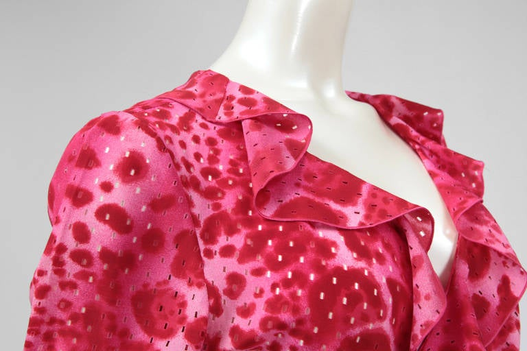 Emanuel Ungaro Silk Leopard Print Wrap Dress 4