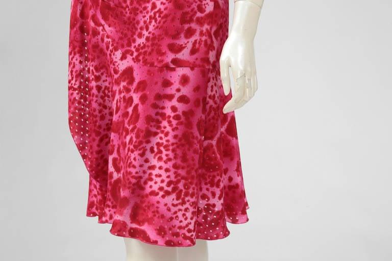 Emanuel Ungaro Silk Leopard Print Wrap Dress 6