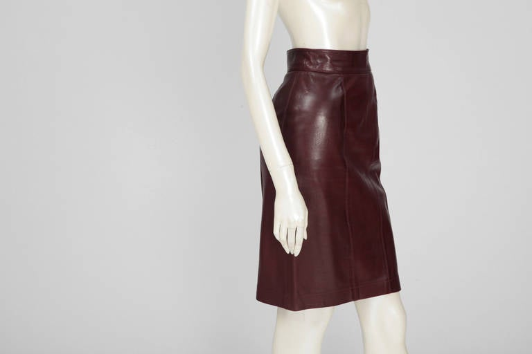 Alaia Leather Skirt Suit For Sale 1