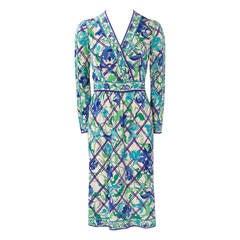 Emilio Pucci Printed Silk Jersey Dress