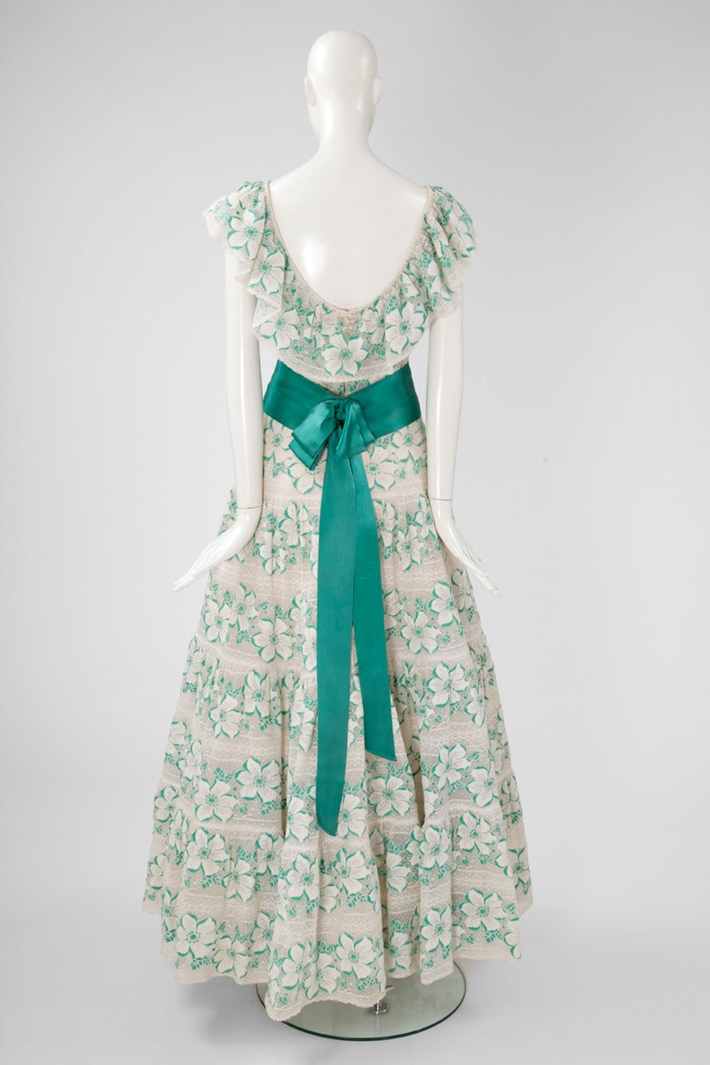 Documented Chanel Haute Couture Guipure Lace Gown, Spring-Summer 1981 For Sale 1