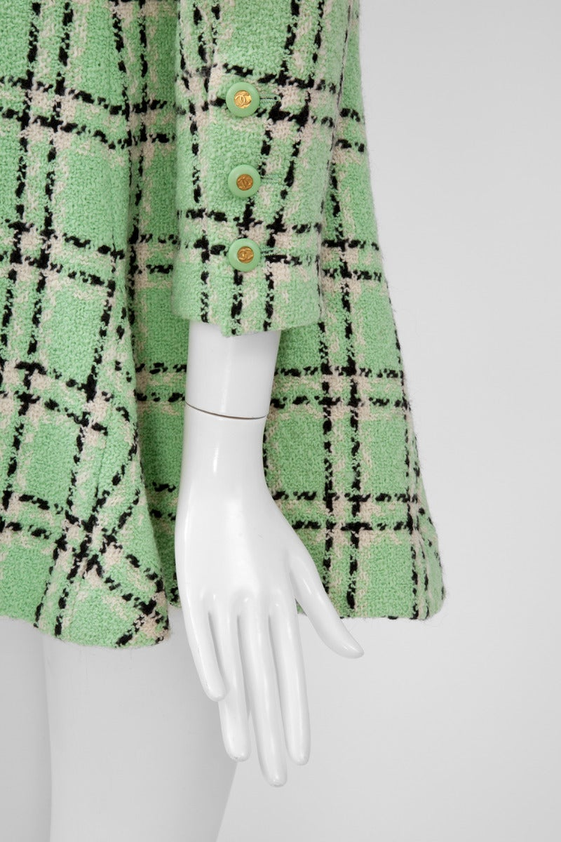 Women's Chanel Tweed Long Jacket, Spring-Summer 1994 For Sale