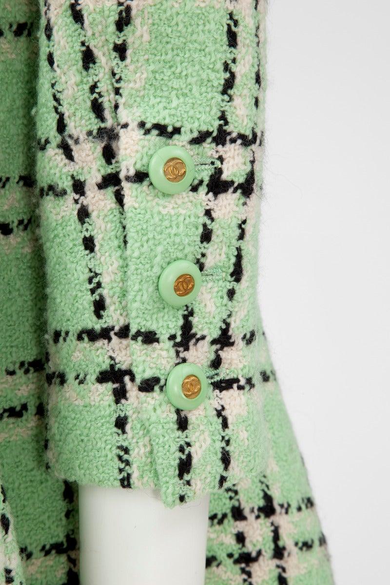 Chanel Tweed Long Jacket, Spring-Summer 1994 For Sale 1