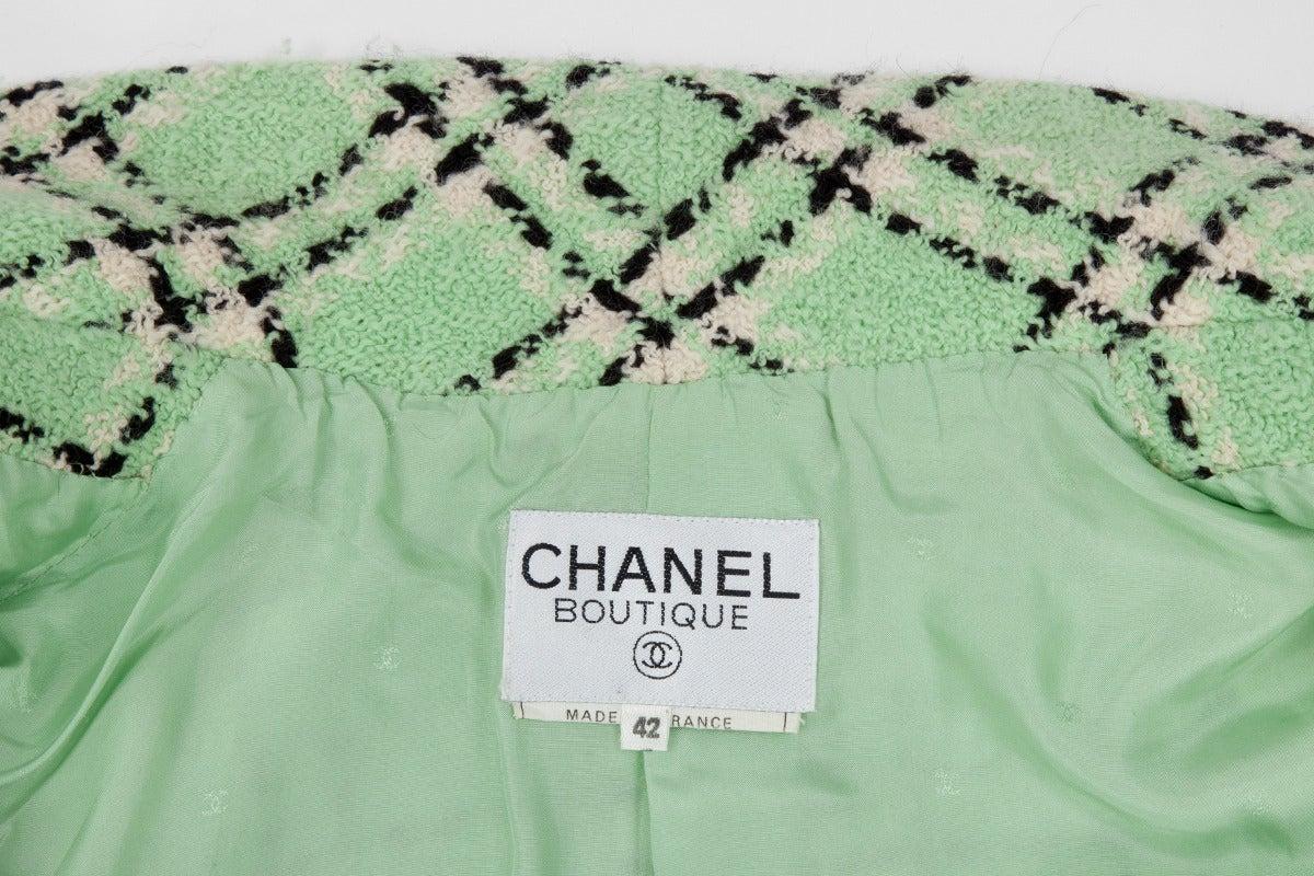 Chanel Tweed Long Jacket, Spring-Summer 1994 For Sale 3