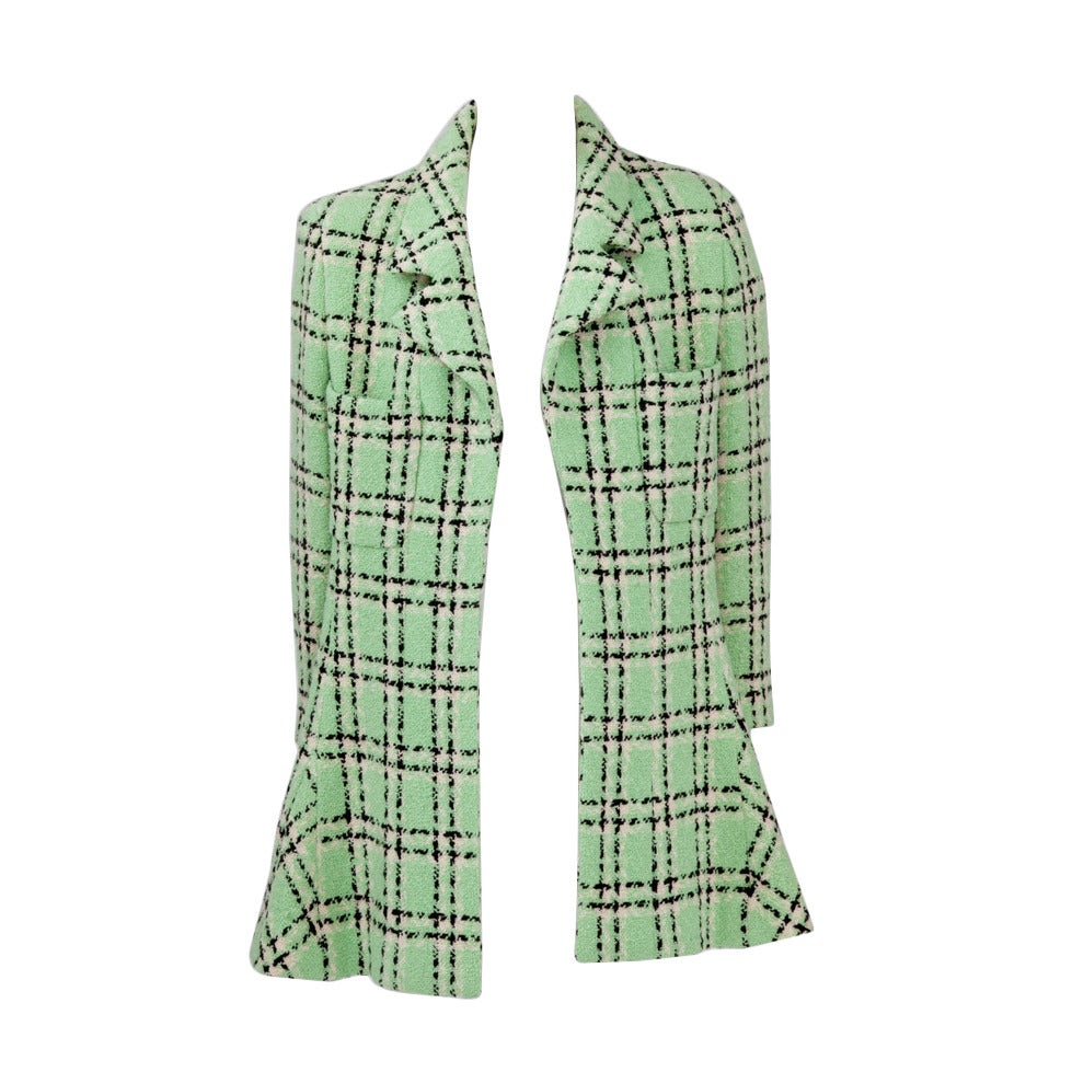 Chanel Tweed Long Jacket, Spring-Summer 1994 For Sale