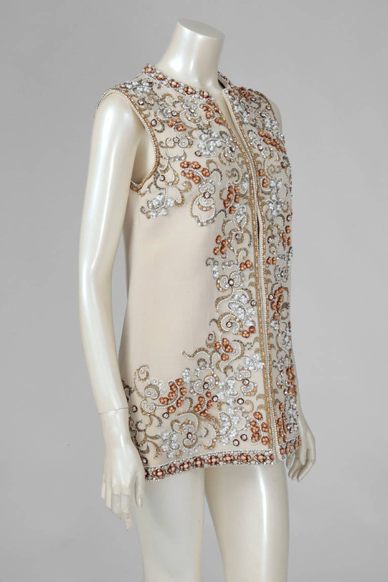 Valentino haute couture embroidered wool waistcoat mini