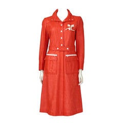 Courreges Vinyl Trench Coat