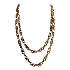 Celine Gilt Metal Chain Necklace