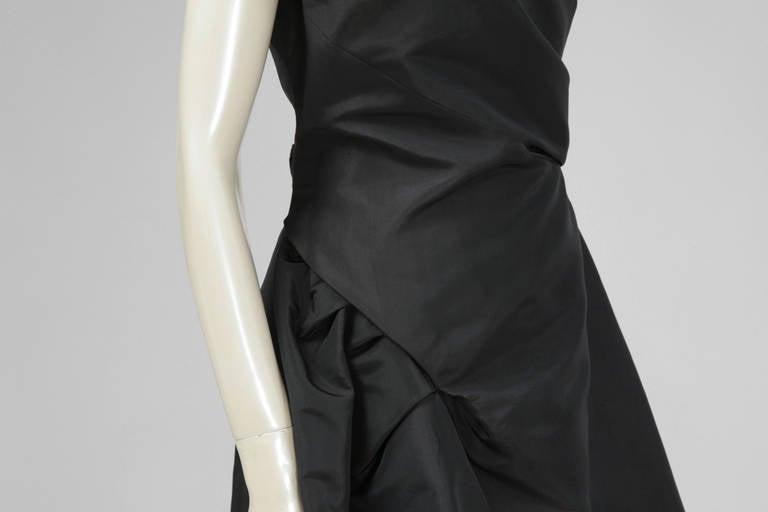 50's Christian Dior Boutique Taffeta Dress 03510 In Excellent Condition For Sale In Geneva, CH