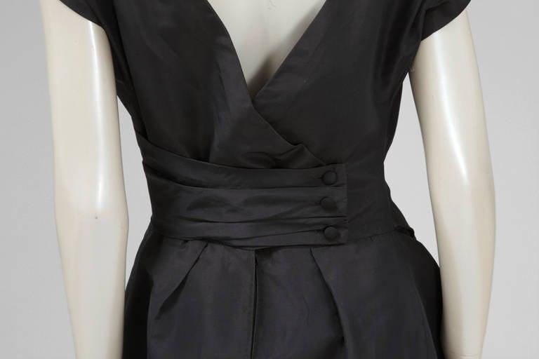 50's Christian Dior Boutique Taffeta Dress 03510 For Sale 1