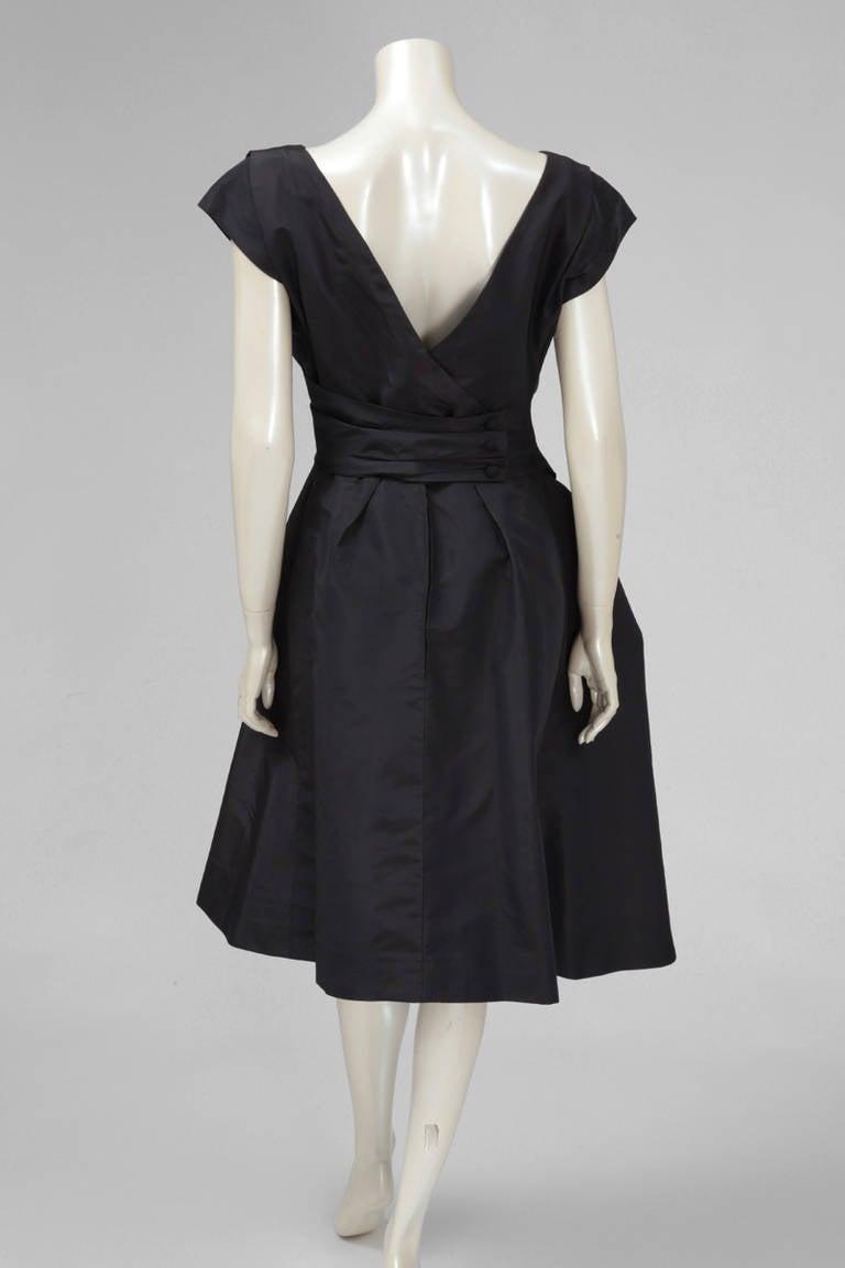 Women's 50's Christian Dior Boutique Taffeta Dress 03510 For Sale