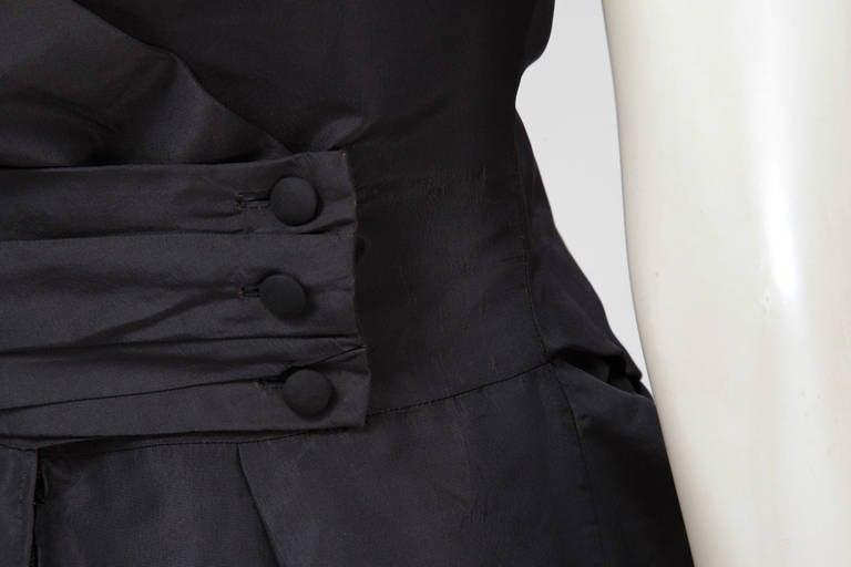 50's Christian Dior Boutique Taffeta Dress 03510 For Sale 2